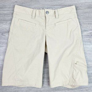 4/$40 Athleta Dipper Khaki Tan Bermuda Shorts